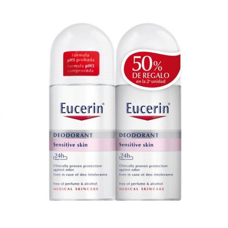 Eucerin Duplo Desodorante Piel Sensible PH-5 roll on