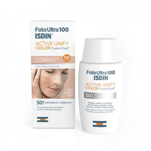 Foto Ultra 100 Isdin Active Unify Color Fusion Fluid SPF 100+